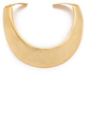 Kenneth Jay Lane Satin Gold Hinged Collar