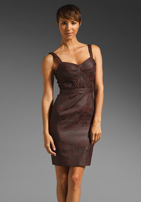Zac Posen Z Spoke by Leopard Jacquard Dress