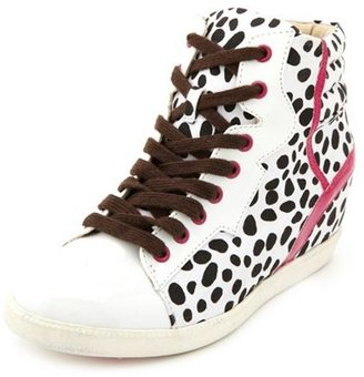 Charlotte Russe Printed Hi-Top Wedge Sneaker