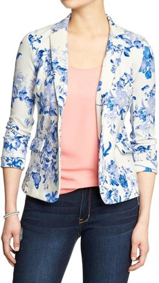 Old Navy Women's Ponte-Knit Floral Blazers