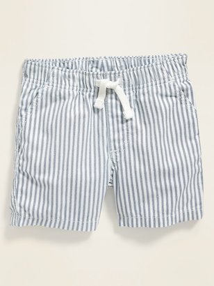 Old Navy Railroad-Stripe Pull-On Shorts for Baby