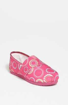 Toms 'Classic Tiny - Circles Glitter' Slip-On (Baby, Walker & Toddler)