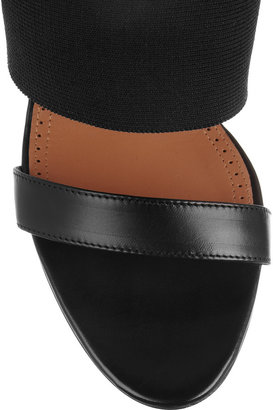 Alaia Leather and stretch sandals
