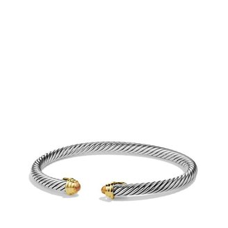 David Yurman Cable Kids November Birthstone Small Bracelet with Citrine and Gold