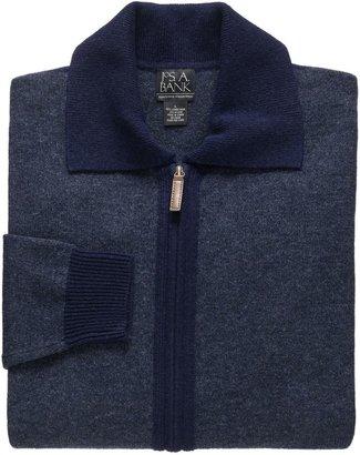 Jos. A. Bank Lambswool Sweater Full-Zip