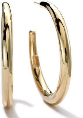 Ippolita 18K Gold 3 Smooth Hoop Earrings $1,695 thestylecure.com
