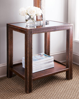 "Horchow ""Nailhead"" Side Table"