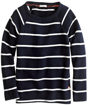 J.Crew Girls' raglan sweatshirt in stripe