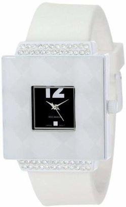 Rocawear Women's RL0126WH1-037 Stylish Bracelet Enamel Bezel Watch $19.99 thestylecure.com