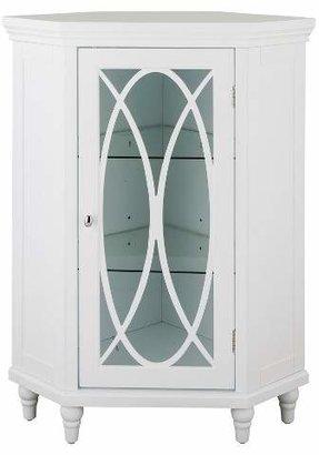 Elegant Home Fashions Laurel Corner Floor Cabinet - White - 32