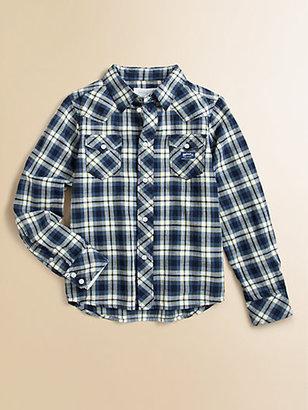 Diesel Little Boy's Plaid Shirt