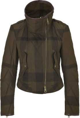 Burberry Oregano Cotton Check Quilted Seldon Jacket