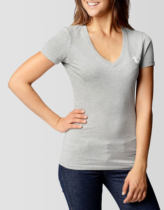 True Religion Womens Logo V-Neck Tee