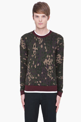 Marc by Marc Jacobs green Camouflage Cotton Crewneck