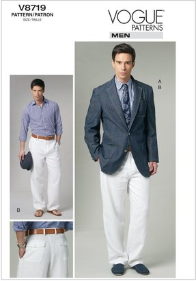 Vogue Men's Jacket and Trousers Sewing Pattern, 8719