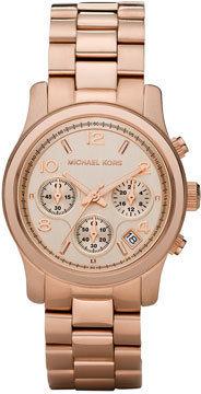 Michael Kors Rose Golden Runway Chronograph Watch