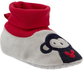 Old Navy Monkey-Graphic Velour Slippers for Baby