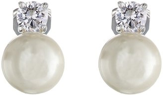 LAUREN Ralph Lauren - Pearl w/ Cubic Zirconia Clip Earrings Earring $44 thestylecure.com