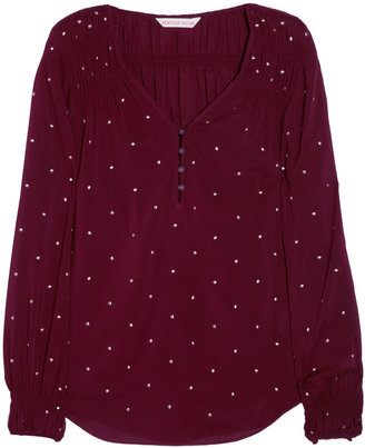 Rebecca Taylor Studded woven blouse