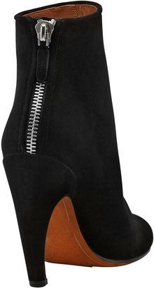 Givenchy Suede Curve-Heel Bootie