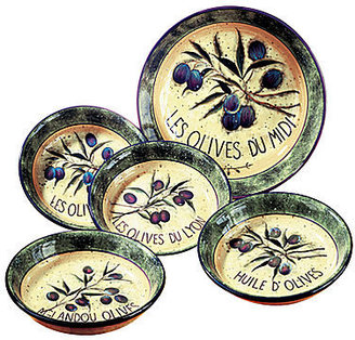 JCPenney Pasta Bowl Set, 5-Piece Garden of Olives
