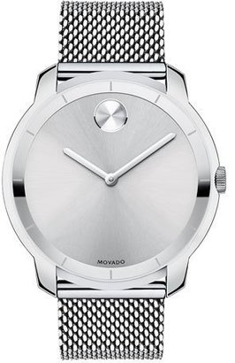 Movado Bold 44mm Bold Watch with Mesh Bracelet, Silver $495 thestylecure.com