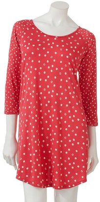 Lauren Conrad Kohl's cares polka-dot sleep shirt
