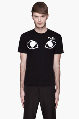 Comme des Garcons Black White eyes Logo T-Shirt