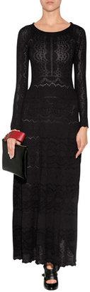 Alberta Ferretti Wool Dress in Black