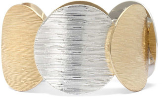 JCPenney Two-Tone Circle Stretch Bracelet $22 thestylecure.com