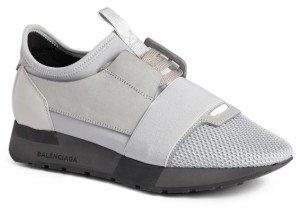 Women's Balenciaga Mixed Media Trainer Sneaker $695 thestylecure.com