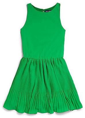 Ralph Lauren Girl's Pleated Chiffon Dress