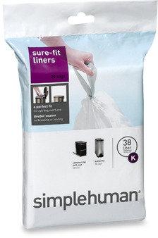Simplehuman Code K Custom Fit 38-Liter Can Liners (20-Pack)