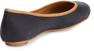 Ash Instinct Leather Ballet Flat, Black