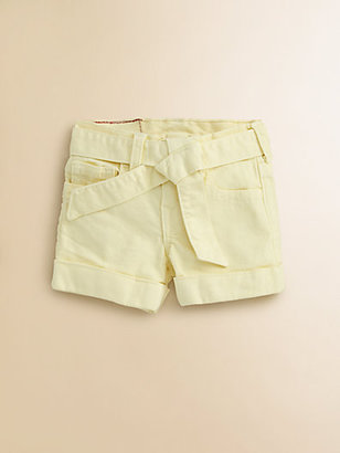 True Religion Girl's Heidi Overdye Tie-Front Shorts