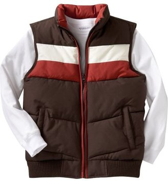 Old Navy Boys Chest-Stripe Quilted Vests