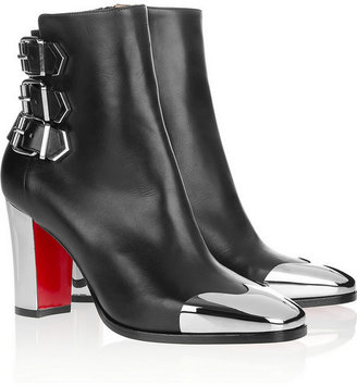 Christian Louboutin Chelita 85 metal-detailed leather boots
