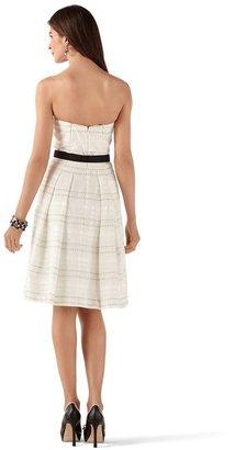 White House Black Market Neutral Fit & Flare Strapless Dress