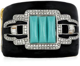 Kenneth Jay Lane Swarovski crystal and resin cuff
