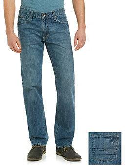Calvin Klein Jeans Men's Orbit Blue Relaxed Straight-Fit Denim