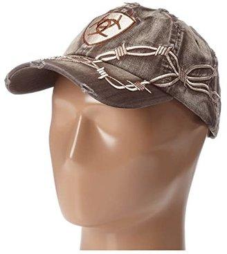 Ariat Barbwire Baseball Cap (Brown) Baseball Caps