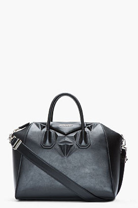 Givenchy Black buffed leather star-embossed Antigona duffle