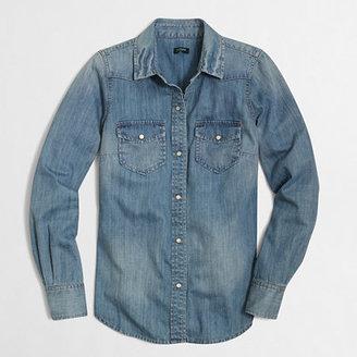 J.Crew Factory Factory two-pocket denim shirt