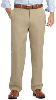 Brooks Brothers Madison Fit Plain-Front Unfinished Gabardine Trousers