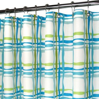 B. Smith Park Wavy Plaid Blue 72-Inch x 72-Inch Watershed® Shower Curtain