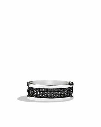 David Yurman Streamline Three-Row Band Ring with Black Diamonds $2,900 thestylecure.com