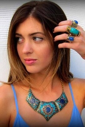 Natalie B Chevry Necklace in Turquoise/Lapis