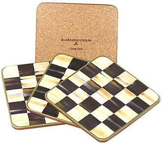 Mackenzie Childs MacKenzie-Childs Courtly Check Coasters, Set of 4