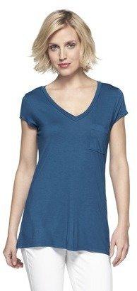 Merona Women's Short Sleeve Rayon Top - Solids