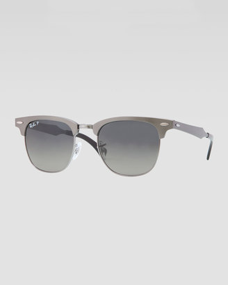 Ray-Ban Clubmaster Aluminum Sunglasses, Gunmetal/Gray